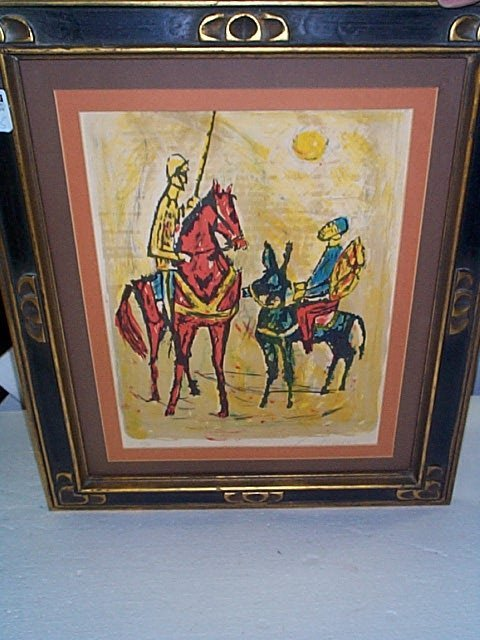 18: Signed lithograph depicting Donqui Oti signed lower