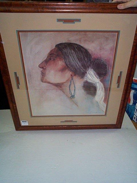 19: Signed print R. Gorman depicting a Native American