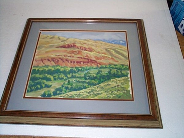 23: Watercolor signed lower right Larry J. Keimig 1992.