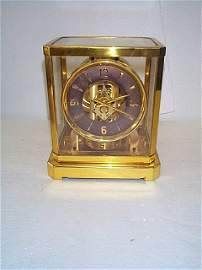 359: Le Coultre Atmos crystal mantel clock.  Measures 9