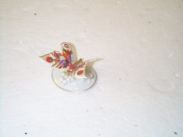 """432: Rosenthal porcelain butterfly.  Measures 2"""" tall b"""