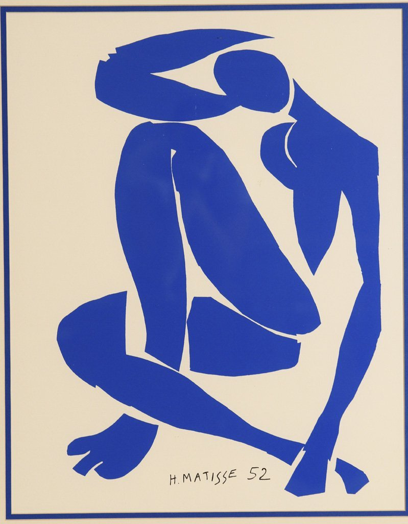 Blue Nude IV Serigraph by Henri Matisse (1869 – 1954)