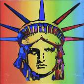Lady Liberty by Peter Max (American/ German 1937)