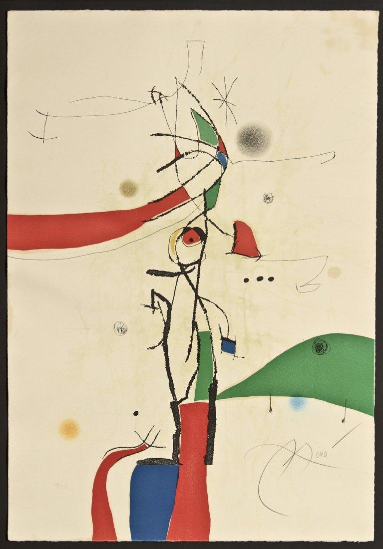 Payaso con Mono (Book II) by Joan Miro 1893 - 1983