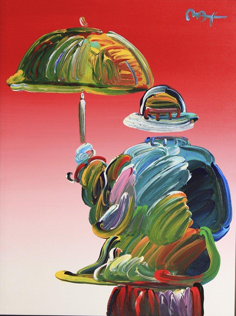 Umbrella Man by Peter Max (American/ German 1937)