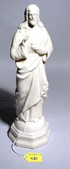 421: IRISH BELLEEK FIGURE OF CHRIST