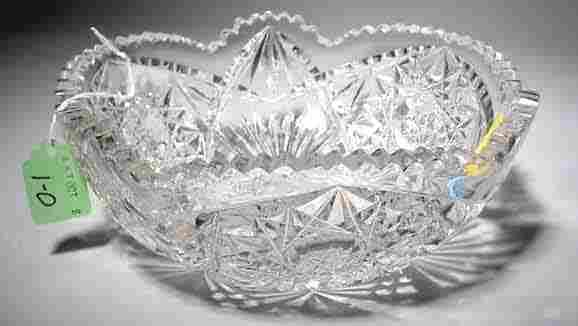 CUT GLASS CIRCULAR BOWL