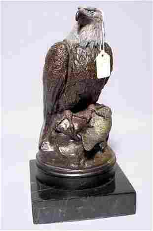 MULTI-PATINATED BRONZE FIGURE OF AN AMERICAN BALD