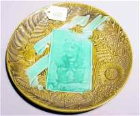 420 VILLEROY AND BOCH MAJOLICA COMMERATIVE PLATE