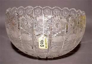 CUT GLASS BOWL, ''Lace'' pattern, having a scallop