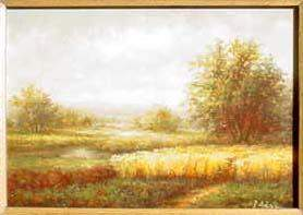 F. ADAIR (European 20th century) oil on panel; ''L