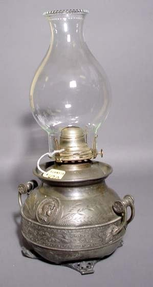 421: POLISHED BRASS BED WARMER, 19th century, having a