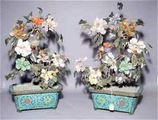 567: FINE AND LARGE PAIR OF CHINESE SEMI-PRECIOUS STONE