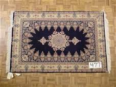 477 FINE PERSIAN ISPHAHAN Silk Foundation 43 x 65