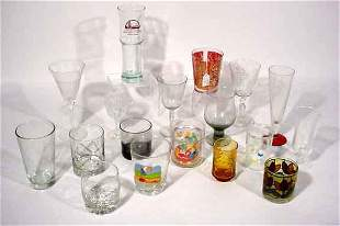 THREE BOXES OF MISCELLANEOUS GLASSWARE, BARWARE A