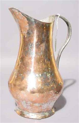 1S: ANTIQUE TUSCANY COPPER WATER BEAKER, having a balus
