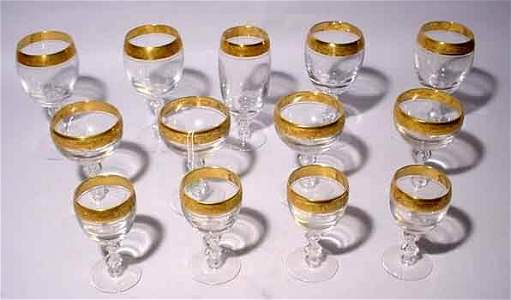 106: 20-PIECE PARTIAL SET OF GILDED AND EMBOSSED CUT CR