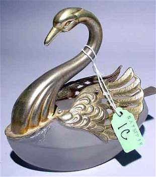 WELL CAST SILVERPLATED EAGLE FIGURED PAPER WEIGH