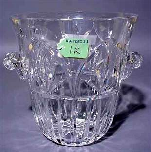 CUT CRYSTAL WINE COOLER, of tapering design, wit