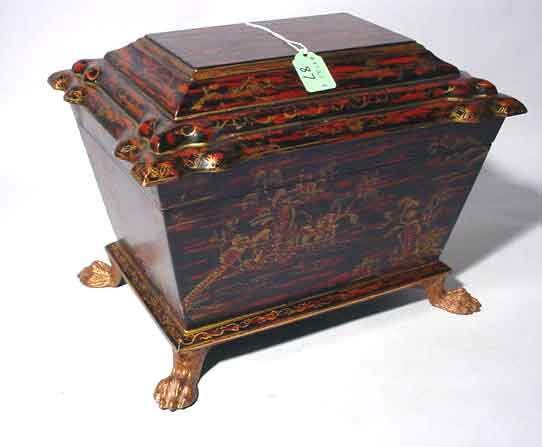 420A: WELL CRAFTED REGENCY STYLE GILDED AND DECORATED L