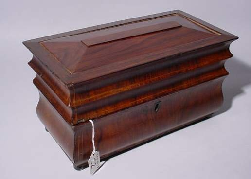 22: TRANSITIONAL STYLE ROSEWOOD BOMBE' DESIGN FOOTED RE