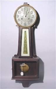 89: BANJO DESIGN WALL CLOCK, circa 1880, by New Haven C