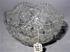 358: AMERICAN BRILLIANT PERIOD CUT GLASS CIRCULAR BOWL,