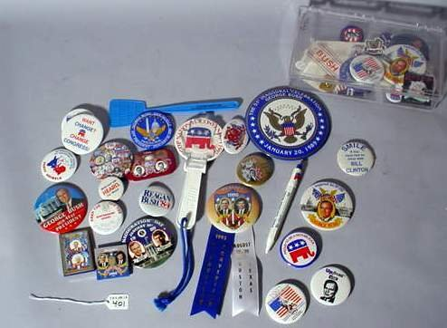 401: LOT OF REPUBLICAN CAMPAIGN BUTTONS, STICKERS AND P