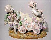 1281: CONTINENTAL DECORATED BISQUE FIGURAL TABLE TOP JA