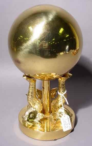 2022: DECORATED POLISHED BRASS TABLE ORNAMENT 6 INCH BA