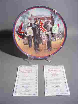 HAMILTON COLLECTOR PLATE - GENERALS GRANT AND LEE A