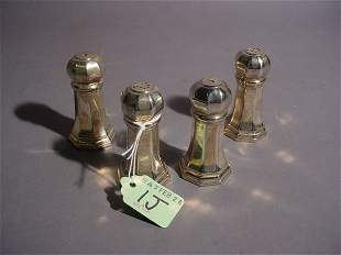 LOT OF FOUR MISCELLANEOUS SILVERPLATED SALT AND PEP