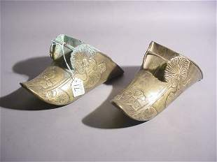 PAIR OF SPANISH COLONIAL CAST BRASS STIRRUPS, 18th/