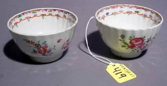 419: PAIR OF SMALL DECORATED CHINESE PORCELAIN EXPORT T