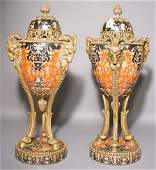 509 PAIR OF NEOCLASSICAL STYLE GILT BRONZE MOUNTED POR