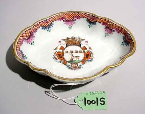 1001S: CHINESE EXPORT DISH, circa 1740-1760