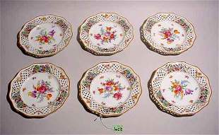 SET 6 BAVARIAN DESSERT PLATES, by