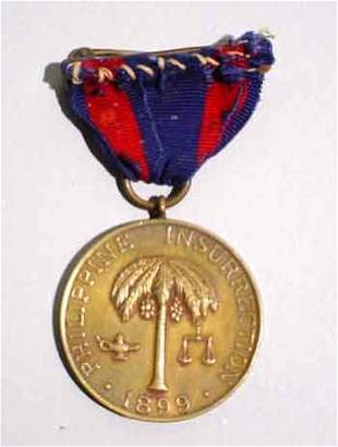1899 PHILIPPINE CAMPAIGN MEDAL, serial# No 21434