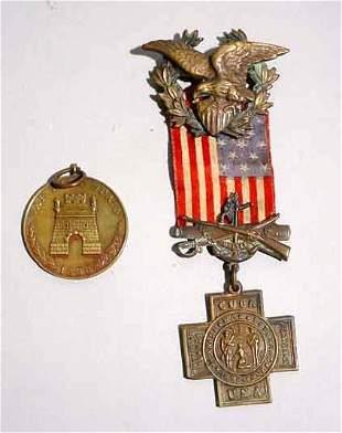 2 U.S. SPANISH-AMERICAN WAR MEDALS, inc