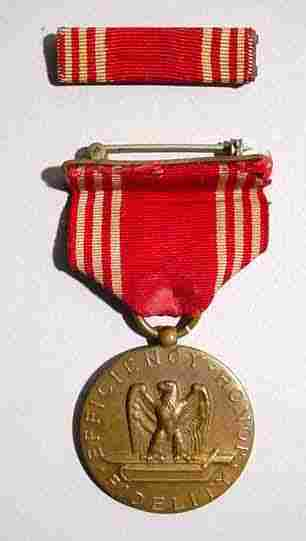 SCARCE NUMBERED US ARMY WW-II GOOD CONDUCT MEDAL