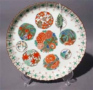 JAPANESE IMARI CIRCULAR DISH, 20th century, havin