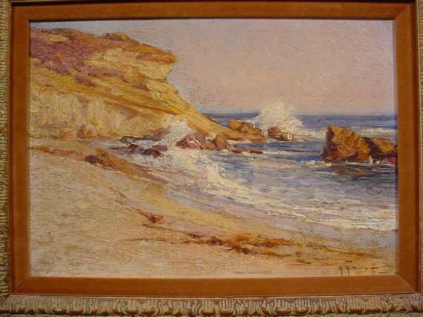 1136: ADRIAN R. HILL (British, 1897-1977); oil on wood