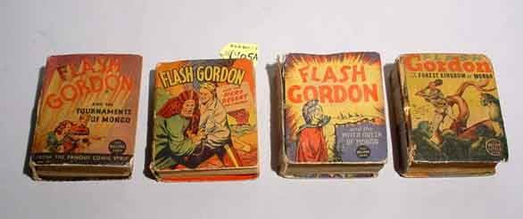 1405A: LOT OF 4 FLASH GORDON ''BIG LITTLE BOOKS''