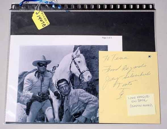 1407B: THE LONE RANGER (CLAYTON MOORE) AND TONTO (JAY S