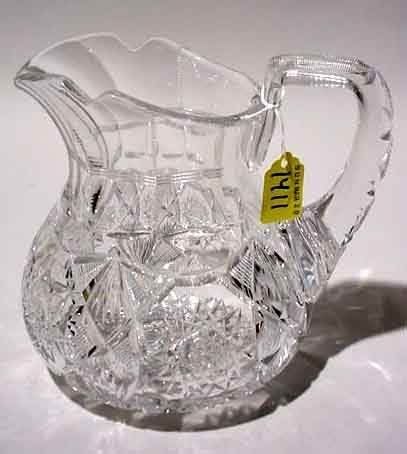 1411: GOOD AMERICAN BRILLIANT PERIOD CUT GLASS BUTTERMI