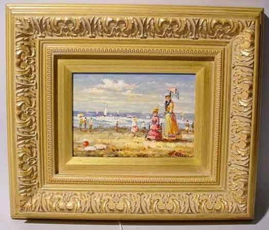 1W: WEARY (European 20th century) oil on panel; ''Figur