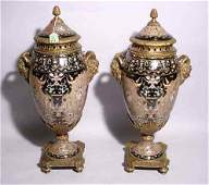102 PAIR OF NEOCLASSICAL STYLE BRONZE MOUNTED PORCELAI