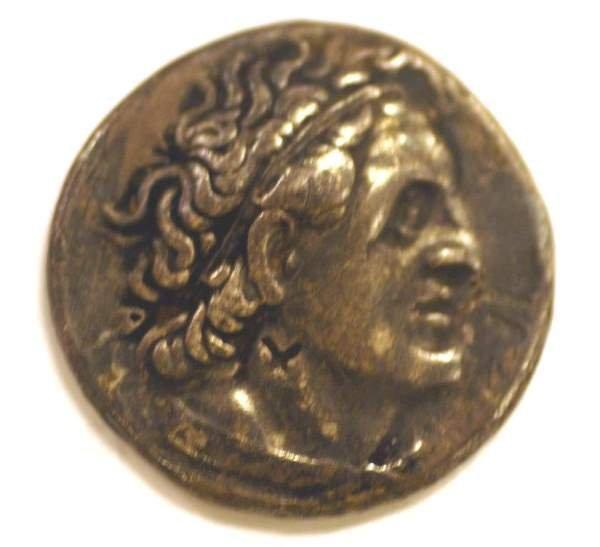 415D: EGYPT PTOLEMY I AR SILVER TETRADRACHM, circa 305-