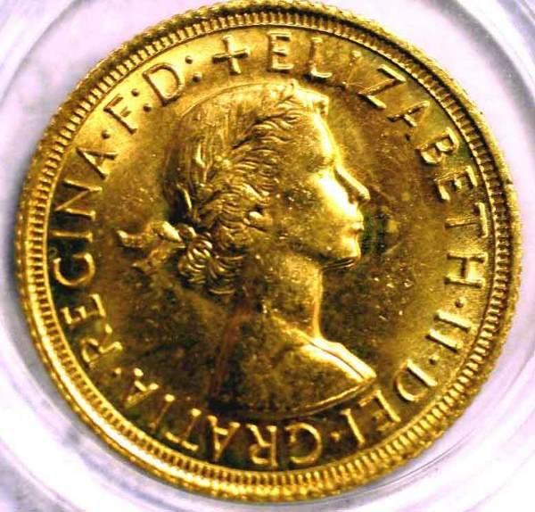 415G: UK 1963 QUEEN ELIZABETH II GOLD SOVEREIGN, i