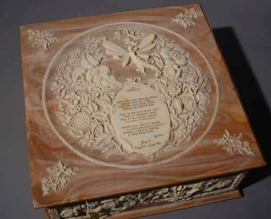 785: INCOLAY STONE JEWELRY BOX, ''Lady Dragonette'' by - 2